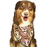 Wfispiy Löwe-Muster-weiche Baumwollklassische Tiere Bandana-Haustier-Hundekatze-Dreieck-Lätzchen