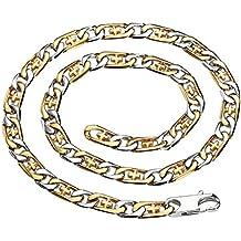 Daesar Joyería Collares de Hombre Marinero Cadena Colgantes Oro Plata Cruz Colgantes Cadena 58.3X1cm