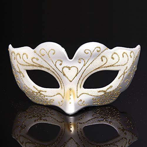 SNHWARE Halloween-Maske, venezianische Maske, Lady Half Face Mask, Urlaubsparty, Maskerade, (White Lady Kostüm Für Halloween)