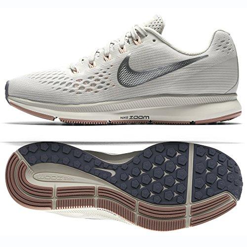best service ad0a4 43a41 Nike WMNS Air Zoom Pegasus 34 Chaussures de Running Compétition Femme,  Multicolore (Light Bone