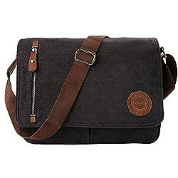 Umhängetasche Herren Arbeitstaschen für Herren Damen Schultasche Messenger Bag Laptoptasche für Arbeit Büro 13.3'' Laptop Uni Reise (Schwarz)