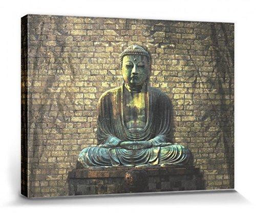 Budismo – Buda En Meditación Cuadro, Lienzo Montado Sobre Bastidor (80 x 60cm)