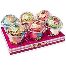 Cupcakes La Asturiana - Envases en forma de cupcake rellenos de golosinas variadas, ideales para