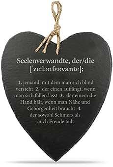 Nicola Spring Gro/ßes H/ängendes Herz Schiefer Kreide Brett Tafel