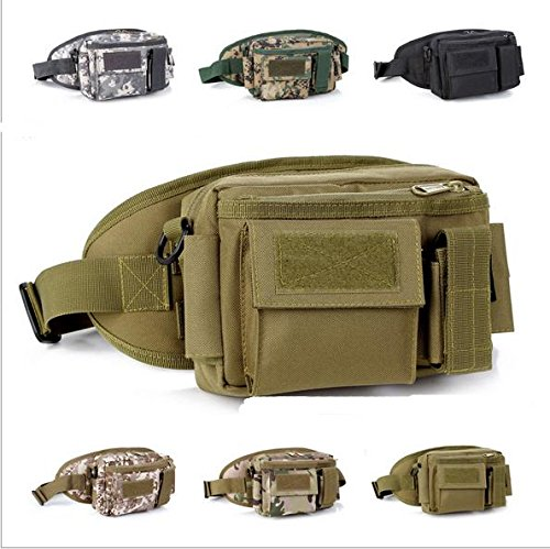 Zll mimetico/outdoor tasche rimovibile combinazione Campagna tattiche per tre tasca borsa a tracolla, three color nero