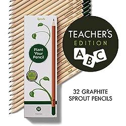 Edición especial para profesores: Lápices ecológicosde grafito con semillas cultivables| Paquete de 32 |