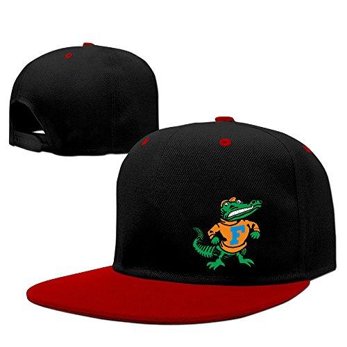 (ahey Custom University of Florida Gators Logo Flat Bill Baseball Kappen Hat Rot, unisex, rot)