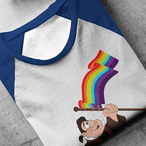 Le Fou Pride Flag Beauty And The Beast Men's Baseball Long Sleeved T-Shirt White/Royal