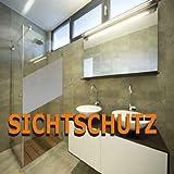 (EUR 8,00 / Quadratmeter) Sichtschutzfolie Milchglasfolie Sandstrahlfolie SATINIERT PREIS TIP! 1 Meter x 0,61 Meter TOP
