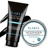 glamza Luxus Aktivkohle Kit Mitesser schwarz Maske & Zähne Whitening Powder Coconut Shell