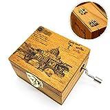 Schneespitze Scatola Musicale,Manovella in Legno Music Box,Carillon in Legno Puro di Hand,Antique Carved Musical Box,Carillon in Legno in Legno Creativo,Best Gift Artigianato Decorazione Domestica