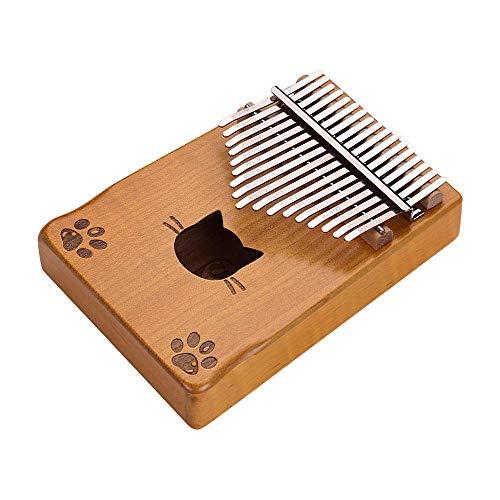 NDFDG 17 Teclas Kalimba Thumb Piano Mbira Maple Wood