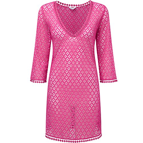 audelle Swim – kaftan-tunique audelle Summer Days Pink Rosa - Rosé