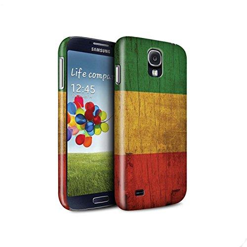 On Hülle/Case für Samsung Galaxy S4/SIV/Holz Bewirken Muster Muster/Rasta Reggae Kunst Kollektion ()