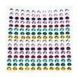 352 x Multi-Coloured Self Adhesive Diamante Stick On Rhinestone Gems 4mm