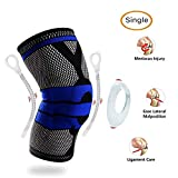 Fitlethic Knee Support, Unisex Knee Compression Sleeve Brace with Patella Gel Pads