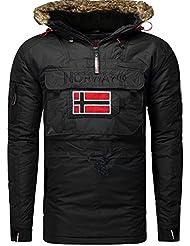 Geographical Norway-Ropa de invierno-Cazadora bronson boy, color negro