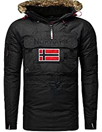 Geographical Norway-Ropa de invierno-Cazadora bronson boy, color negro