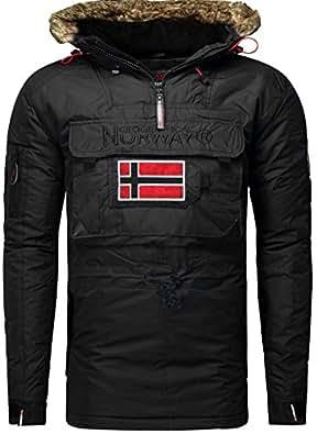 Geographical Norway - Sport d'hiver - blouson bronson boy noir - Taille 8 A