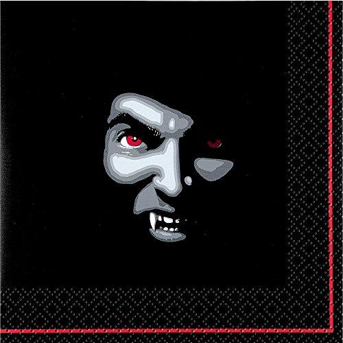 Generique - 20 Serviettes en papier Vampire Halloween 33 x 33 cm