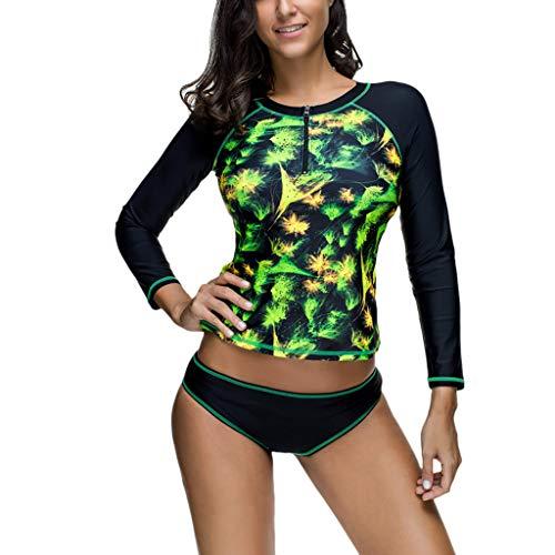 Committede Damen Langarm-Einteiler Surfanzug Rash Guard Badeanzug Surf Anzug, Drucken Badeanzug Tauchen Neoprenanzug Schnorcheln Schwimmen Segeln Kleidung Taucheranzug