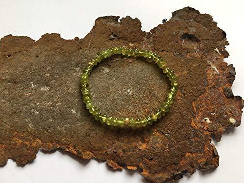 Peridot Armband mit Goldelementen (Peridot Und Gold-armband)