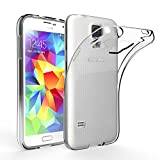 Samsung Galaxy S5 Coque de Protection, EasyAcc Etui Transparent Pour Samsung Galaxy S5 Smartphone Cover Case Étui Housse Invisible En TPU Gel Avec Absorption de Chocs