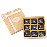 ZOROY LUXURY CHOCOLATE Ramadan Gift Box Of 9 Eid Mubarak Milk And White Chocolate - 95Gms