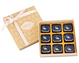 ZOROY Luxury Chocolate Ramadan Box of 9 eid Mubarak Milk and White - 95Gms