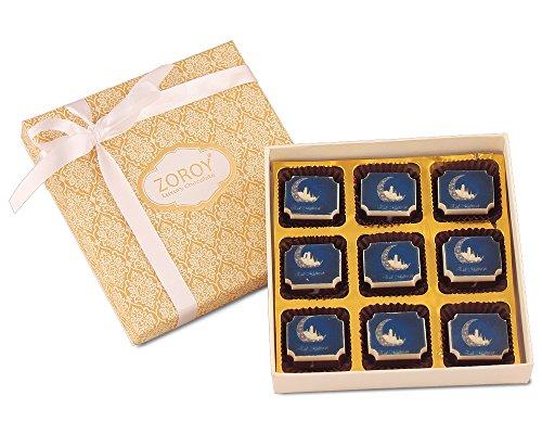 ZOROY LUXURY CHOCOLATE Ramadan Gift box of 9 eid mubarak milk and...