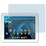atFolix Schutzfolie kompatibel mit Xoro Pad 9719QR Folie, ultraklare FX Displayschutzfolie (2X)
