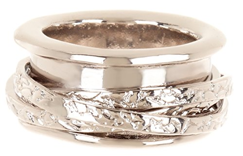 Gemaholique Silvertone Wholesale Fashion Jewellery Spinner Ring (P 1/2)