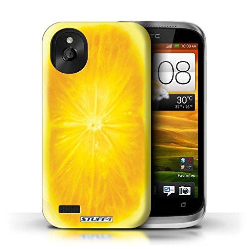Kobalt® Imprimé Etui / Coque pour HTC Desire X / Ananas conception / Série Fruits Orange