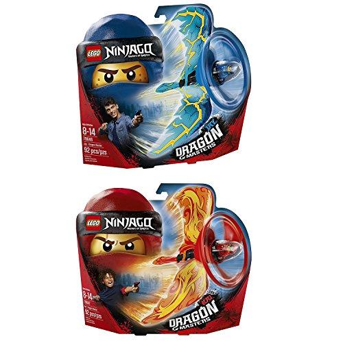 Lego Ninjago 2er Set 70646 70647 Drachenmeister Jay + Drachenmeister Kai
