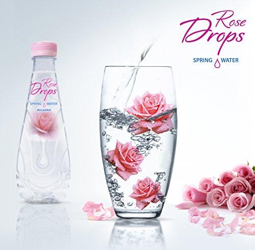 Rose Drops Bio Organisch Rosenwasser 500ml zum Trinken, Kochen & Backen, Gesichtswasser, Haare, Haut, Lebensmittelaroma