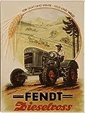 Kühlschrank Metall Magnet 6x8 cm Fendt Dieselross Traktor Schlepper Nostalgie Tin Sign EMAG355