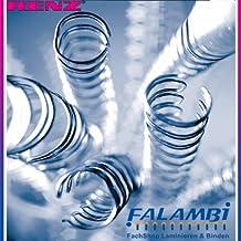 Renz Uno Pitch alambre peine elementos en 2 vinculante: 1 tono, 23 loops, diámetro de 12,7 mm, 1.2 pulgadas, oro / metálico