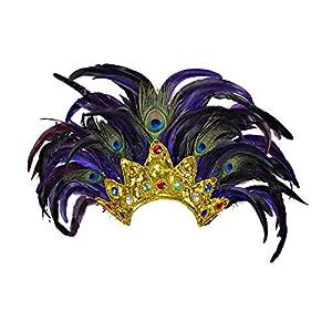 WIDMANN ?Tocado de plumas del espectáculo de Bahía, multicolor, talla única. Código: WDM11812