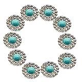FITYLE Lot De 10 Pcs Boutons En Cristal Pour Couture Robe De Mariage Coudre Artisanat DIY Cadeau Bandeau - 20mm