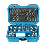Beley - Kit di 23 chiavi antifurto per la rimozione dei dadi di bloccaggio delle ruote, con adattatore per VW Audi