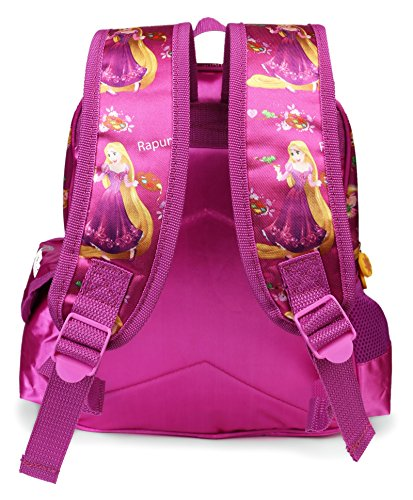 Disney Princess Rapunzel Purple School Bag for Children of Age Group 3 - 5 years  Size 14 inch   Material Satin