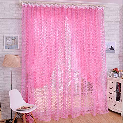 Gaddrt® 1Pannello Tenda della Finestra Fashion Rose Tulle Finestra schermi Porta Balcone Tenda Pannello Sheer 200x 100cm, Rosa, 110x250cm