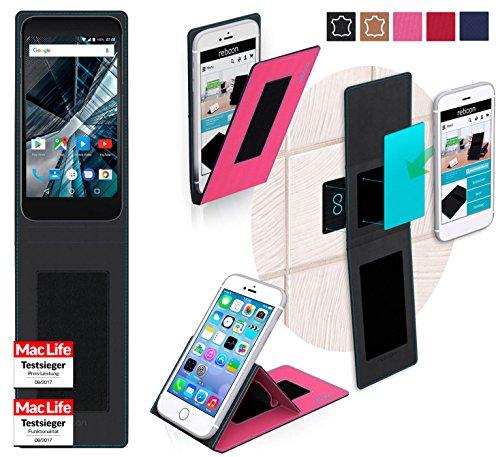 reboon Hülle für Archos 55 Graphite Tasche Cover Case Bumper | Pink | Testsieger