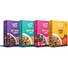 Yogabar Muesli Variety Pack - (Dark Chocolate, Fruits Nuts + Seeds, Almond + Quinoa Crunch, Turmeric + Ginger) 400g Each