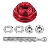 Qiilu Universal Aluminio Coche Cierre rápido Campana del botón del capó del motor Pin Lock Clip Kit