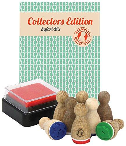 Stemplino 4260338190118 - Coleccin de Mini Sellos (Variados), diseo de Safari