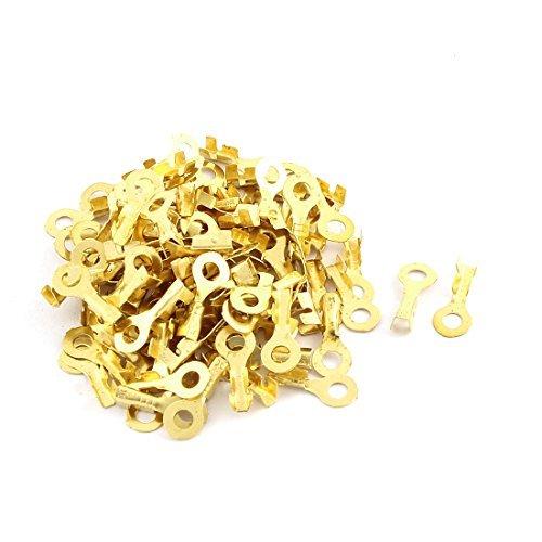 100pcs Schnelltrennungen Nicht isolierte Ringkabelschuh Stecker 3mm (Ring-terminal-anschluss)