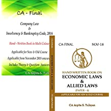 CA Final Company & Allied/Economic Law (Set of 2 Books) Handwritten Book by CA Arpita Tulsyan