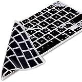 kwmobile protector de silicona para el teclado QWERTZ para Apple MacBook Air 13''/ Pro Retina 13''/ 15'' enDiseño mármol