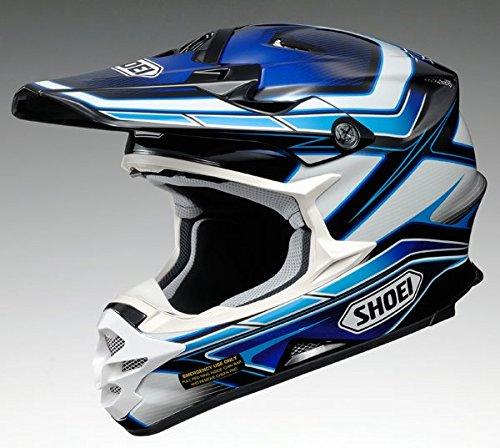 Casco MX Shoei vfx-w Capacitor TC3giallo, Blue White, XS